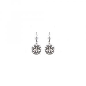 Honeycomb Silver Earring